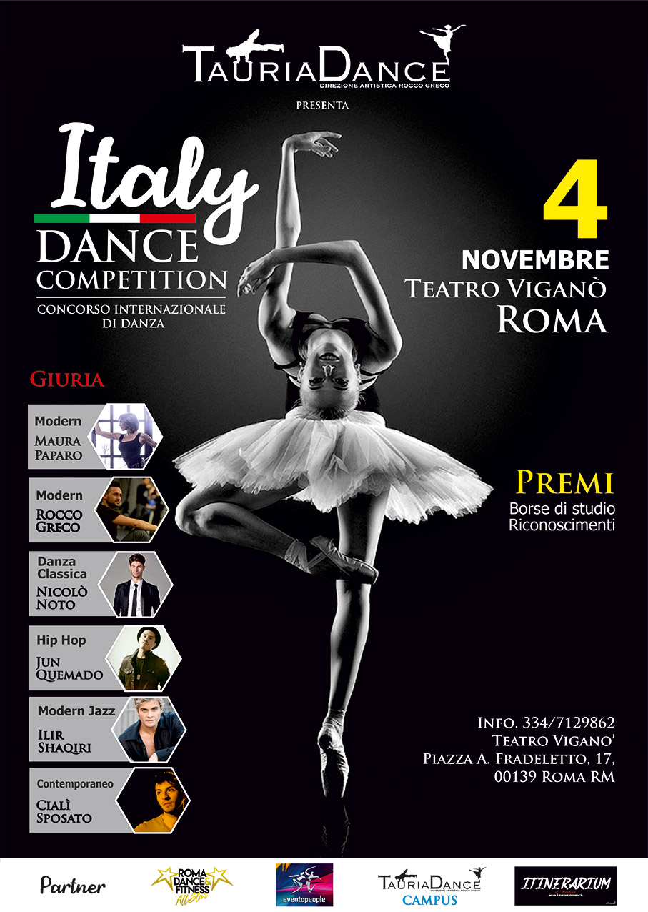 TAURIADANCE ITALY COMETITION poster