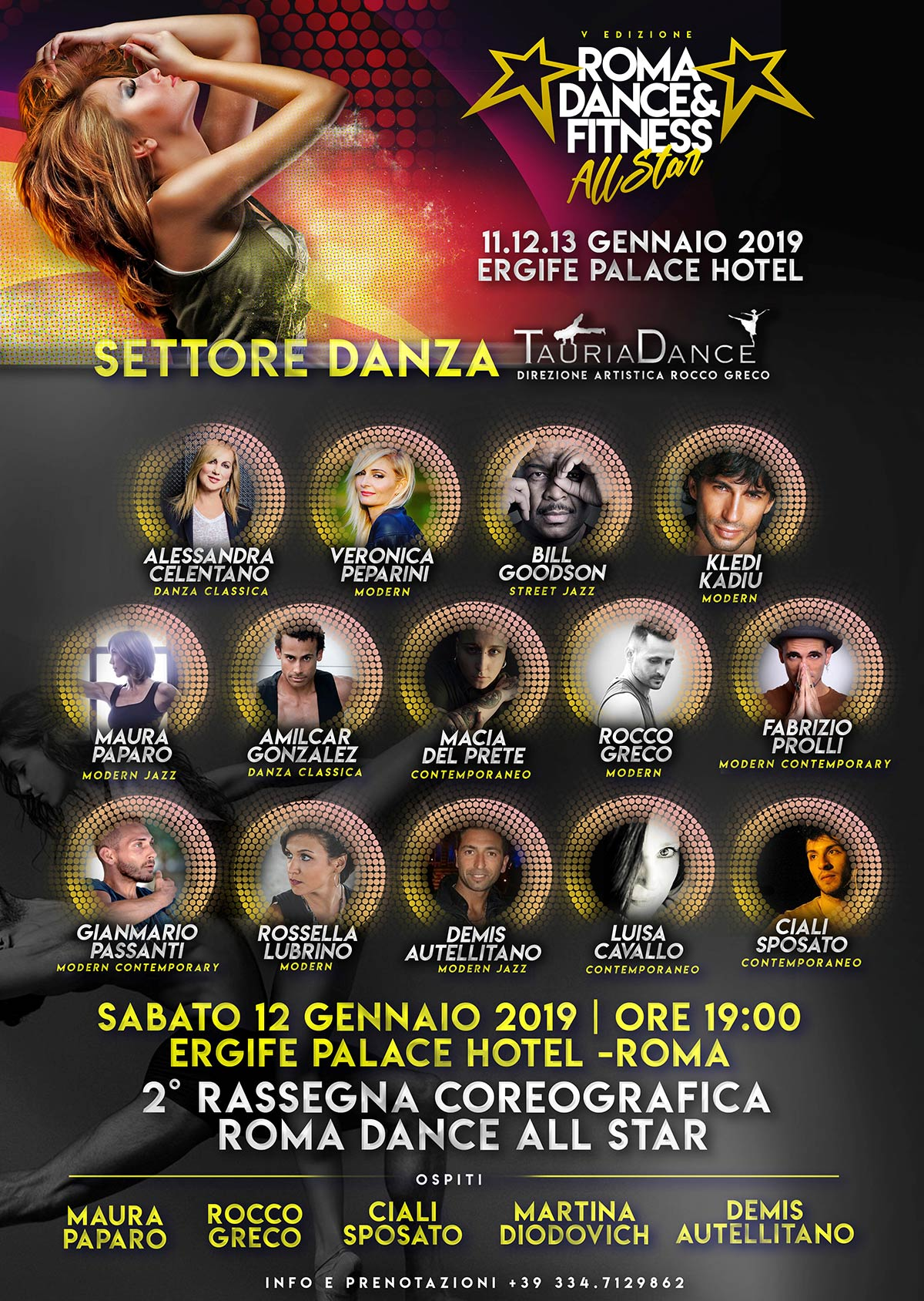 poster ROMA DANCE ALL STAR 2018
